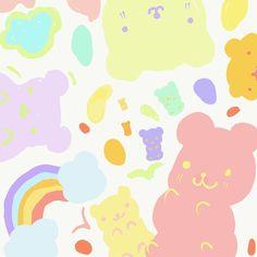 Kawaii Disney, Kawaii Art, Moomin Wallpaper, Note Doodles, Aesthetic Template, Doodle Designs, Cute Cartoon Wallpapers, Cute Stickers, Sticker Design