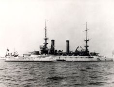 Kearsarge during the cruise of the Great White Fleet.  The Kearsarge-class battleships were built as coast defense ships.[1] They had a displacement of 11,540 short tons (10,470 t), an overall length of 375 feet 4 inches (114.40 m), a beam of 72 feet 3 inches (22.02 m) and a draft of 23 feet 6 inches (7.16 m).