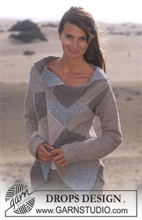 Knitting Patterns Sweter Free Pattern Drops Design in Silke Tweed Knitting Patterns Free, Knit Patterns, Free Knitting, Free Pattern, Drops Design, Tweed, Jumpers For Women, Cardigans For Women, Magazine Drops
