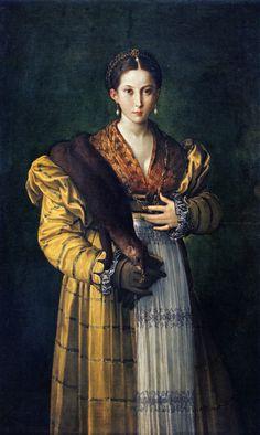 Portrait of a Young Lady (Antea), Parmigianino. Naples, Museo di Capodimonte / 1524-7