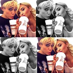 Demi and Miley! What's great is that they have Sonic cups! :D