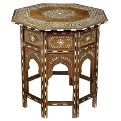 19th Century Antique Anglo Indian Inlaid Table  INDIA