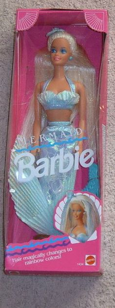 The Beloved Mermaid Barbie. I screamed, and then sang a song when I got this.