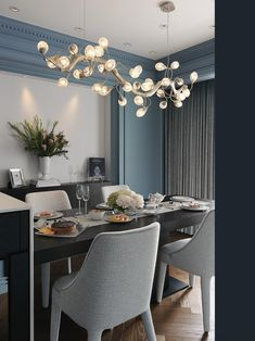 Interior Project designed by L'atelier Fantasia 繽紛設計 in Taiwan with Lotus Serip Organic Lighting chandelier. Serip Organic Lighting | www.serip.com.pt