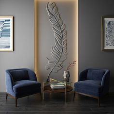 The design of entelea. Wall Panel Design, Wall Decor Design, Drawing Room Wall Design, Feature Wall Design, Home Room Design, Living Room Designs, Living Room Decor, Office Interior Design, Interior Walls