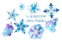 Watercolor Snowflake Illustrations by Digital Press Creation on Creative Market