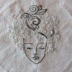 Embroidery Projects My winter goddess embroidery to go with the other seasonal goddess and greenmen embroideries - My winter goddess embroidery to go with the other seasonal goddess and greenmen embroideries Embroidery Applique, Beaded Embroidery, Cross Stitch Embroidery, Embroidery Patterns, Machine Embroidery, White Embroidery, Textiles, Thread Art, Fabric Art