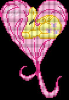MLP Fluttershy heart perler bead pattern by indidolph on deviantART