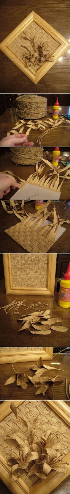 DIY Paper Twine Panel DIY Projects | UsefulDIY.com Follow Us on Facebook ==> http://www.facebook.com/UsefulDiy