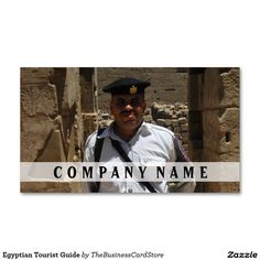 Egyptian Tourist Guide Business Card