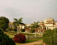 rambagh palace taj; jaipur; india;