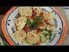 Sorrentinos de calabaza, cebolla y mozzarella con salsa de jamón y verdeo - Recetas – Cocineros Argentinos