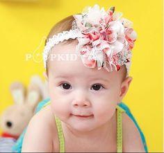 2 Colors Free Shipping Baby Chiffon Flower Headband Girls Lace Headband Infant Knitting Hair Weave Baby Hair Accessories  A051-in Hair Accessories from Kids & Mothercare on Aliexpress.com | Alibaba Group