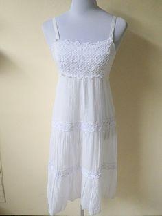white gypsy sundress by VintageHomage on Etsy, $15.00