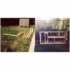 Made a TV unit out of old pallets