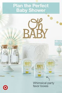 Throw a fun, themed baby shower for the parents-to-be with food, cake & gift ideas for a boy or girl. Baby Shower Party Supplies, Baby Shower Fun, Baby Shower Favors, Baby Shower Parties, Baby Shower Themes, Baby Shower Decorations, Baby Shower Invitations, Baby Shower Gifts, Baby Gifts