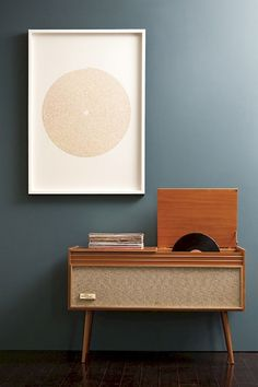 The Wall of Sound print by Markia Jarv Studio, beautifully styled with a Mid-Century Stereo Console I Create Retro Furniture, Mid Century Modern Furniture, Luxury Furniture, Furniture Design, Entryway Furniture, Contemporary Furniture, Furniture Ideas, Smart Furniture, Deck Furniture