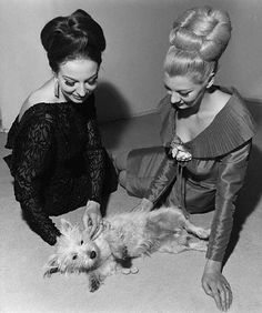 Right before a big night on the town, Minnie and Inez always enjoyed picking a few fleas off of Sparky, the dog.