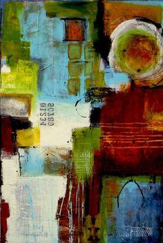 Times Square, abstract art print by Erin Ashley
