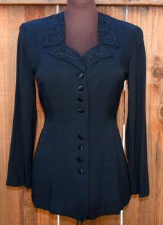 Womens Blouse Black Vintage by TimetoWakeup on Etsy, $29.00