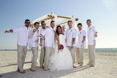Tips and advice on beach wedding attire whether it is a formal, informal or themed wedding! Description from beachweddinggallery.com. I searched for this on bing.com/images