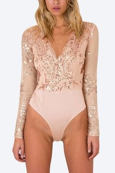 Sensible Sexy Women Cross V Neck Bodysuits Long Sleeve Stretchy Playsuits Solid Shiny Romper Bodysuit Jumpsuits Female Fashion Chic Tops Long Performance Life Women's Clothing