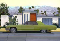 "Andy Burgess, ""Green Car, Palm Springs"" 56"" x 80"""