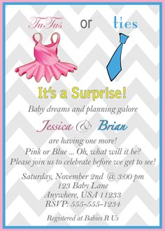Gender Neutral Baby Shower Invitation Digital File by JPixels, $9.99