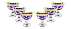 Made In the famous Italian Glass factory, Interglass, these glasses are made of highest quality crystal and are hand decorated with 24 karat gold. Since the beginning the company has concentrated its efforts on realization of articles with high artistic and historical content referring them to the Florentine Renaissance Age. Magnificent contrasting colors will enhance your bar and dinner table, the rare drinkware will surely be a topic for conversation at your parties and your guests will… Dinner Table, Drinkware, Old World, Vintage Designs, Serving Bowls, Renaissance, Conversation, Articles, Italy