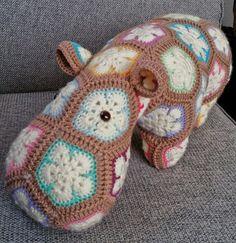 Henry the happy hippo pattern Heidi Bears  by MadebyMeleo on Etsy