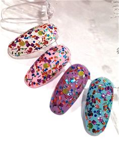 Dippin Dots : Custom-Blended Glitter Nail Polish / Lacquer