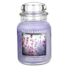 Village Candle Rosemary Lavender Candle Jar | Elysian Gifts