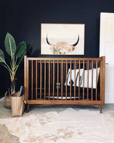 Modern urban Boy Nursery Bold walls, boho and modern decor Boho Nursery, Baby Nursery Decor, Baby Bedroom, Baby Boy Rooms, Nursery Neutral, Baby Boy Nurseries, Nursery Room, Nursery Ideas, Western Nursery