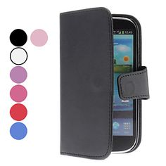 Solid Color PU Leather Case with Card Slot for Samsung Galaxy S3 I9300 (Assorted Colors) – USD $ 3.99