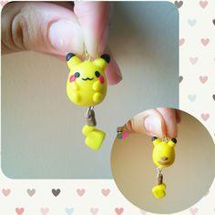 Polymer clay Pikachu Charm