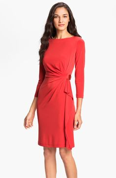 Eliza J Side Drape Jersey Sheath Dress (Petite) available at #Nordstrom