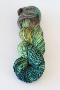 Dandelion hand dyed sock yarn superwash by SockObsessionYarns