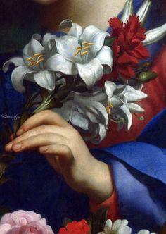 Карло Дольчи (последователь) Мадонна с Младенцем с цветами Национальная галерея
