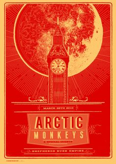 Arctic monkeys gig poster