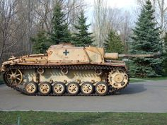 A StuG 3 that was recovered from being buried in mud and still shows it's original paint color.