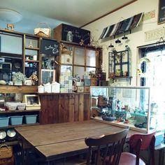 Nana40Nさんの、Lounge,DIY,ガラスケース,木工,いいね、フォロー本当に感謝デス☺︎,RC山口♡,インスタ☺nana_ariettaについての部屋写真
