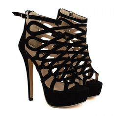 These remind me of my all time favorite heels from 20 years ago!  LOVE THESE! --   Fashionable Black and Openwork Design Women's Sandals