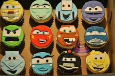 cars cupcakes | Cars cupcake | Ideas galore