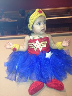 Juliette in her hand made wonder woman tutu outfit