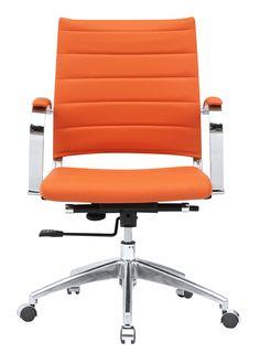 Sopada Modern Conference Office Chair Mid Back, Orange