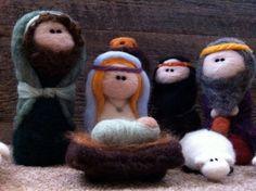 Felted nativity