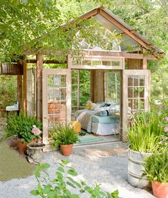 "They call this the ""Napping"" Shed. But would be too much light for me! More like a meditation/relaxation shed."
