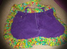 Upcycled Blue Jean Apron  Garden Bugs by DawnJuddCreations on Etsy