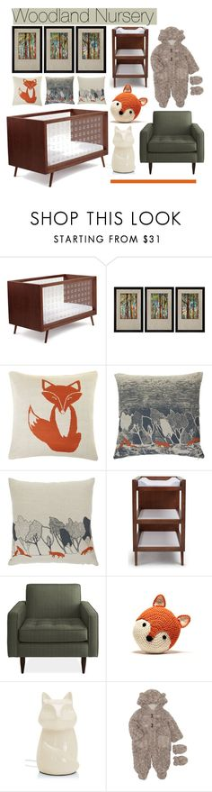 """""""Woodland Nursery"""" by nadzy23 ❤ liked on Polyvore featuring interior, interiors, interior design, home, home decor, interior decorating, Ubabub, Universal Lighting and Decor, Orwell and Goode and John Lewis"""