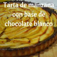 Tarta de manzana con base de chocolate blanco